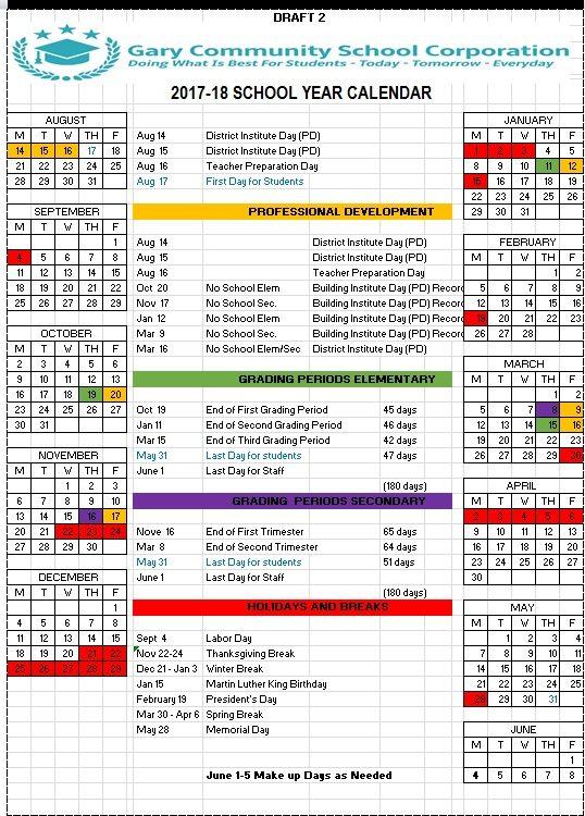 2017-18 School Year Calendar   Available Now!