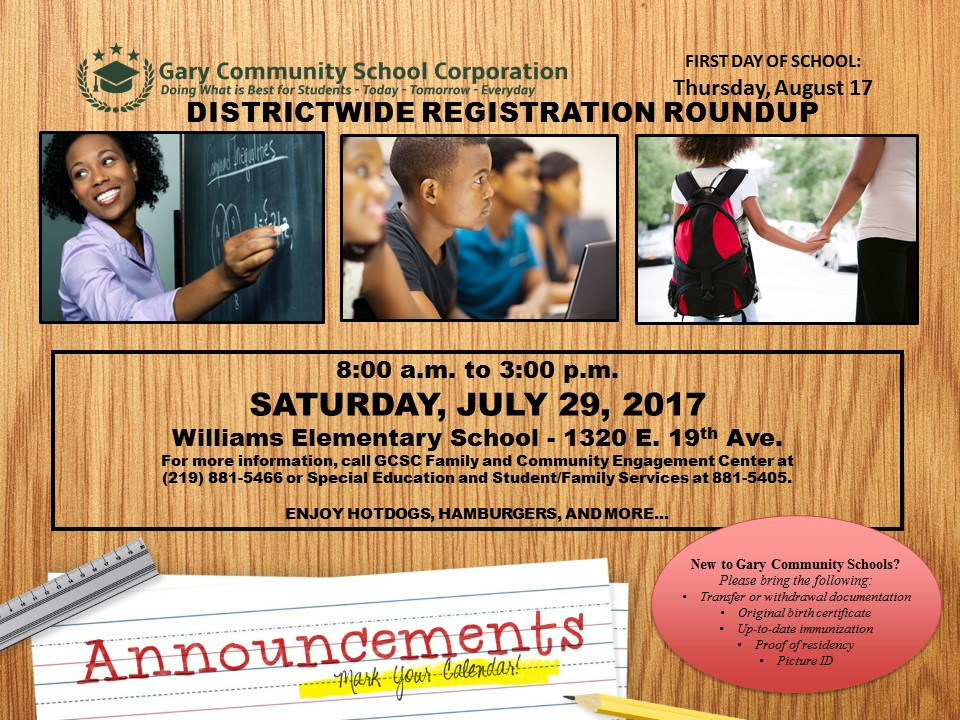 DISTRICT WIDE REGISTRATION ROUNDUP